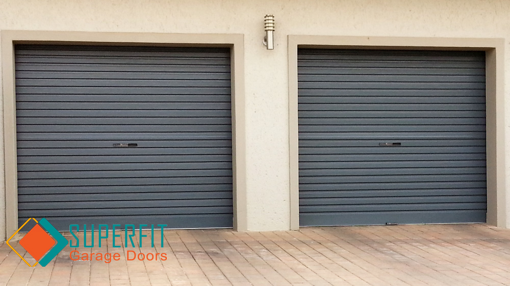 roll up garage door charcoal color