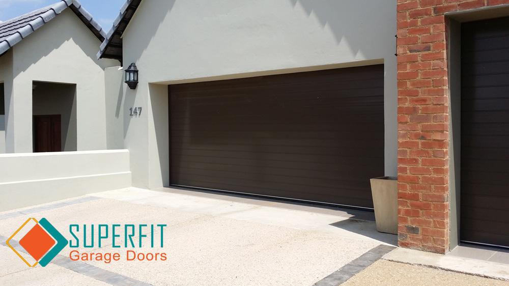 Double Aluminium Bronze Garage Door on Single Garage Door Size
